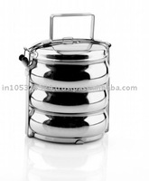 3 Layer Good Quality Stainless Steel Tiffin Box , Indian Hot Sale Tiffin , Stainless steel Thermal Lunch Box