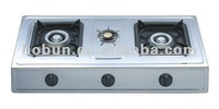 The more popular style tabletop gas stove,stretching design with 3 brass burners