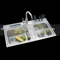 stainless sink wash troughs 7014F/stainless steel brush sinks