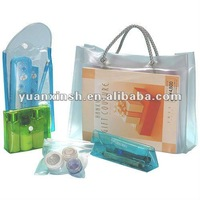 snap button clear pvc bag
