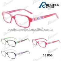 2012 New style acetate kids optical eyeglasses frame with rubber pattern(OAK512060)