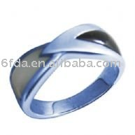 925 silver ring with shell