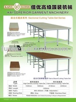 KAIYU 1530mm,1830mm,2130mm,2430mm Sectional Fabric Cutting Table