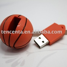 2012 Basketbal shape PVC material USB 2.0 Flash Memory
