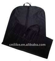 High quality black pp non woven suit cover