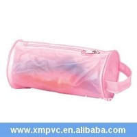 Pink handle round PVC stationery box XYL-D-S047
