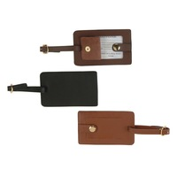 ADAPLT - 0060 black true leather tags with button / new fashion hang tags / promotional custom luggage tag