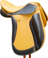 Leather Covered dressage Saddle with flexi plastic Saddle tree