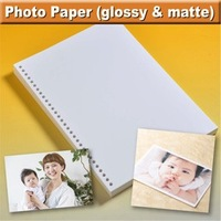 polaroid photo album paper both glossy and matte available and a3 a4 b4 b5 3r 4r 5r at wholesale price , OEM available