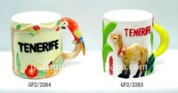 cartoon ceramic cup with animal designs