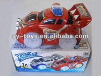 Cartoon electric police car with light
