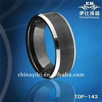 8mm Tungsten carbide Ring,IP Black Plated, Tungsten carbide rings for mem