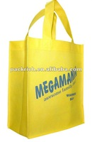 Yellow disposable non woven shopping bags
