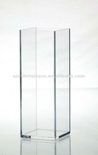 Plexigals Home Decor Tall and Square Clear Acrylic Vase