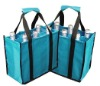 non-woven tote wine bag,6 bottles wine carrier bag,6 pack wine bag