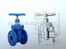 DIN3352 Cast Iron Flanged Ends Non-rising Stem Gate Valves
