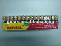 hot selling R6 AA ROYAL CARBON ZINC DRY BATTERY
