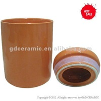 Cylinder Ceramic Airtight Food Container
