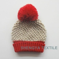 fashion knitted foldable beanie hat