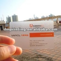 0.38mm transparent hard plastic business cards