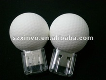 Promotional real capacity golf ball usb flash drive