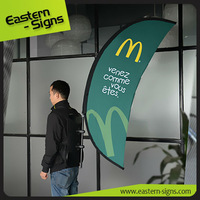 Advertising Showroom Arch Moving Signs Backpack Banner