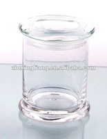 high clear glass candle jars