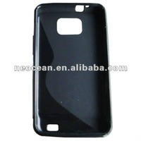 Cell Phone TPU Case for Sam i9100(Black), accept paypal