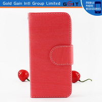2015 Wholesale Cell Phone Accessory for Apple for iPhone 5 Leather Cover Case