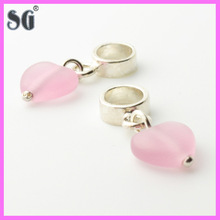 2014 Fashion wholesale silver jewelry sterling silver earrings charm fit for european bracelet
