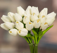 PU single stem decoration artificial tulip flower,Cheap artificial flower mini tulip
