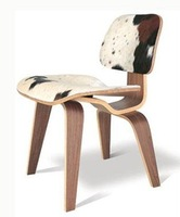 DCW Plywood Chair with pony skin chair