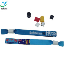 EM wholesale events promotional polyester customizable wristbands