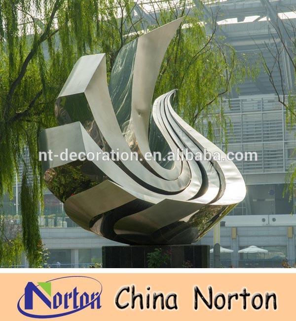 Moderne Skulpturen Garten Edelstahl : Große, moderne abstrakte kunst aus edelstahl skulptur für den garten