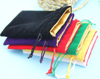 Velvet Pouch With Satin Lining