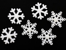 2016 hot wholesale graphic design high quality new products custom home wall decoration felt snowflake sticker made in China