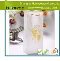 2014 new ebay best seller stand up frosted wine packaging bag