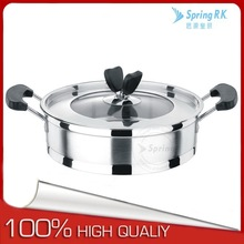Stainless Steel non stick frying pan & wok pan with lid with induction base and bakelite handle