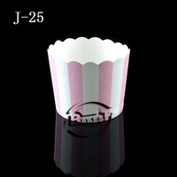 Medium white&pink strip cake cup 50pcs per cube/ paper cup cake cases/ paper cup cake#J25