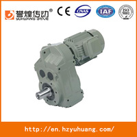F Series Light Weight Helical Agri Gear Reduction Unit With AC Motor
