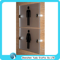 Frosted plexiglass restroom signs wall acrylic toilet door signs