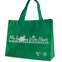 sewing by hand promotional non woven bag for shopping