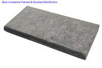 60x30x3cm flamed brushed bluestone pool coping