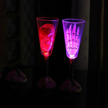 innovative new products light champagne glass cup skeleton paw hand led electron Halloween party bar ktv luminous cup FC90126