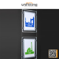 Cable Suspension LED light box for real estate agents window display