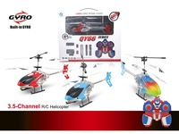Long rang rc helicopter 3.5CH metal body made in China