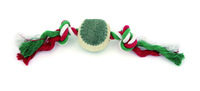 pet toy pet rope toy pet toy with tennis ball