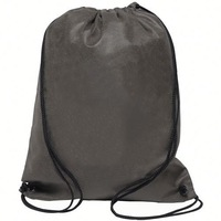 High quality New recycle nylon white drawstring backpack laptop bag