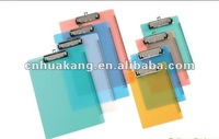 transparent file folder clips pouch hole with ruler
