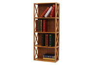 4 tiers carved wood book case wholesale with direct factory price
